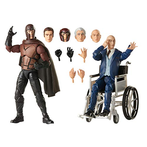 Hasbro Marvel Legends Series X-Men Magneto and Professor X 6-inch Collectible Action Figures Toys, Ages 14 and Up