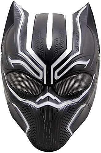 XDHN Capitán América, Guerra Civil, Máscaras De Pantera Negra, Máscara De Marvel Avengers Carnaval De Halloween - Disfraz De Adulto - Plástico De Ingeniería, Unisex, Pantera Negra, 0Cm