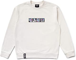 Official Merchandise by Line Friends - Character Long Sleeve Tshirt Crew Neck Knit Tee Shirt