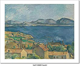 The Bay of Marseilles, Seen from L'Estaque Paper Print Wall Art (8in. x 10in.)