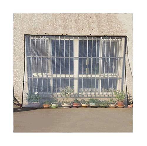 ETNLT-FCZ Transparente Plane Für Gartenmöbel Abdeckplane Transparente Pflanzendach Regenschutz,Größe Kann Angepasst Werden (Color : Clear, Size : 2x4m)