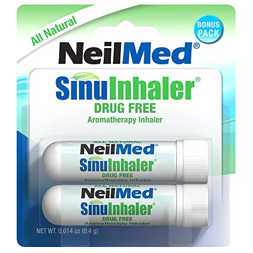 NeilMed SinuInhaler Natural Non Medicated Aromatherapy Inhaler (Bonus Pack)
