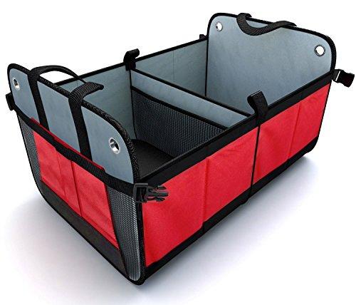 Organizador de Cajuelas Para Carro (Plegable) - Extra resistente con rodapiés para prevenir colapsos