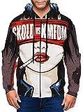 Photo de Qin Tong Fu Zhuang KMFDM Skold Vs KMFDM Mens 3D Print Hooded Pullover Full-Zip Hoodie Jacket par