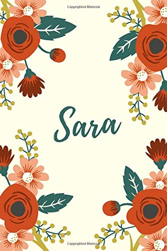 sara: Great gift Journal - Notebook for Women and girls (Italian Edition)