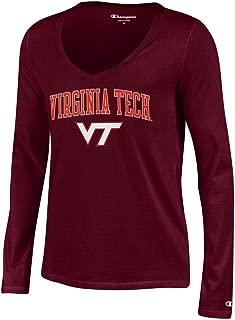 Elite Fan Shop NCAA Women's V Neck Long Sleeve Tshirt Team