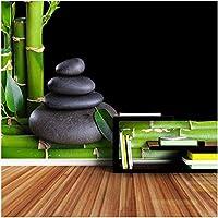 Bosakp 自然な竹の壁画のリビングルームの家の装飾 280X200Cm