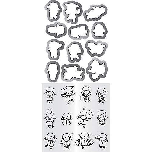 Hampton Art Mama Elephant Clear Stamp & Die Set 4.125'X10.5'-Mini Girl Agenda