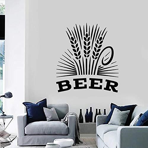 Muurstickers Decal Bier Muursticker Alcohol Drinken Pub Bar Brouwerij Schuim Molen Tarwe Vinyl Window Stickers Interieur Decor voor Woonkamer Mural