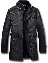 KJHSDNN Uomo Giacca Motociclista in Pelle Vintage Cappotto Spesso Interno Inverno