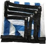 OYY Manufacture Lonas Haipeng Shading Network Espesa Shading Network Tarpaulin Leaf Floof Foot Fundas Sunscreen Encrypted Malla de Calor Aislamiento Pesado (Color : Blue+White, Size : 2.8x4m)