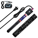 ZMS Submersible Aquarium Heater with Intelligent LED Temperature Display Fish Tank Heater with Quartz Shell to Prevent Explosion External Internal Dual Temperature Control (50W)