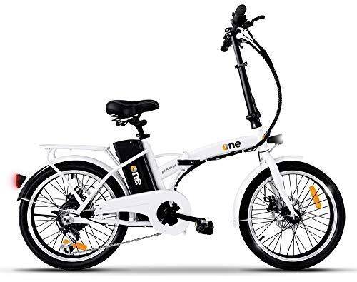 the one Bicicletta Elettrica Pieghevole A Pedalata Assistita 20' 250w Easy Shining White, Bianca Unisex adulto, no size