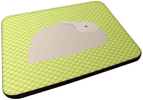 Carolines Treasures BB7785FC flauschiger Angora-Hase, grün, dekorative Untersetzer, 3,5 cm, mehrfarbig