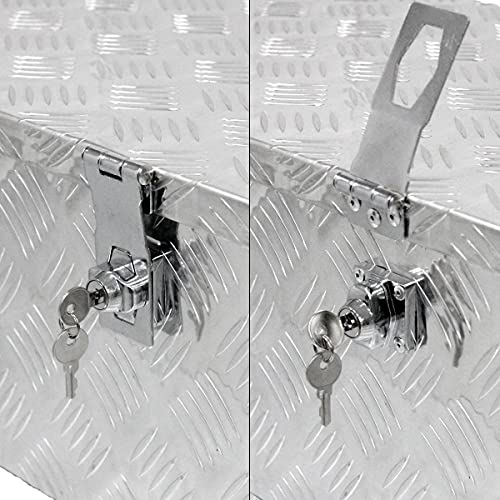 ECD Germany Alu Werkzeugkasten 57 x 22 x 19 cm – abschließbar – Werkzeugkoffer Werkzeugkiste Werkzeugbox Alukiste Kiste Alubox Transportbox Transportkiste Deichselbox Truckbox Box - 3