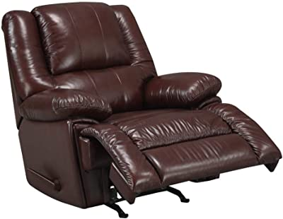 At Home Designs Ultra Plush Top Grain Leather Recliner