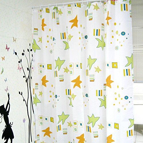 Daloual Duschvorhang/Brausevorhang/Vorhang/Dusche Duschgardine180 x 200 cm Grün Orange