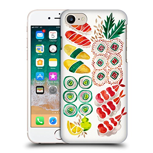 Head Case Designs Oficial Cat Coquillette Sin Plato de Sushi Comida Carcasa rígida Compatible con Apple iPhone 7 / iPhone 8 / iPhone SE 2020