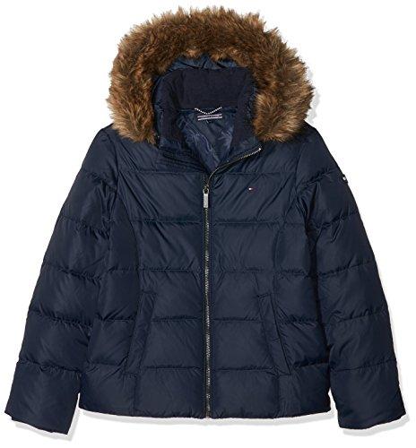 Tommy Hilfiger Mädchen Essential Basic Jacket Jacke, Blau (Black Iris 002), 176 (Herstellergröße: 16)