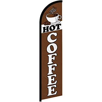 Perfect for Businesses Restaurants Infinity Republic Cafes etc! Grand Opening Windless Full Sleeve Banner Swooper Flag Events
