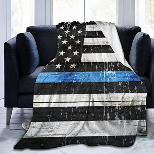 AIKIBELL Ultra-Soft Micro Fleece Blanket,A Symbolic American Flag of Support for Law Enforcement,Home Decor Warm Throw Blanket for Couch Bed,80'X 60'