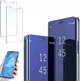 Ttianfa Case for oppo F11 cover Mirror Flip Case,Screen protection film Protective 360 Function Stand Shockproof Platin Cl...