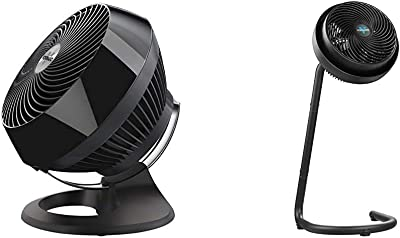 Vornado 660 Large Whole Room Air Circulator Fan with 4 Speeds and 90-Degree Tilt, 660-Large, Black & 783 Full-Size Whole Room Air Circulator Fan with Adjustable Height