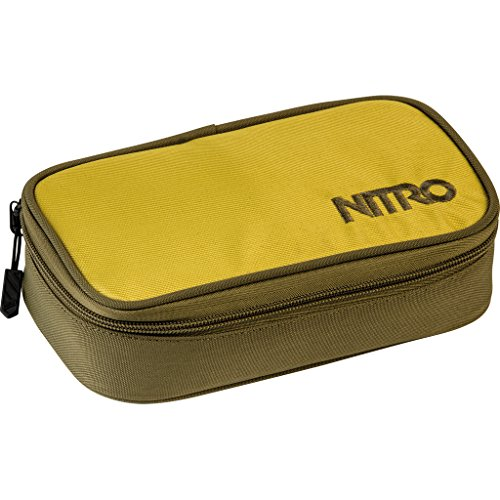 Nitro Pencil Case XL inkl. Geo Dreieick & Stundenplan, Federmäppchen, Schlampermäppchen, Faulenzer Box, Federmappe, Stifte Etui,  Golden Mud