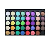 shamrock58 Popfeel 40 Colors Cosmetic Powder Eyeshadow Palette Makeup Set Matt Available Rich and Leading-The-Trend (B)