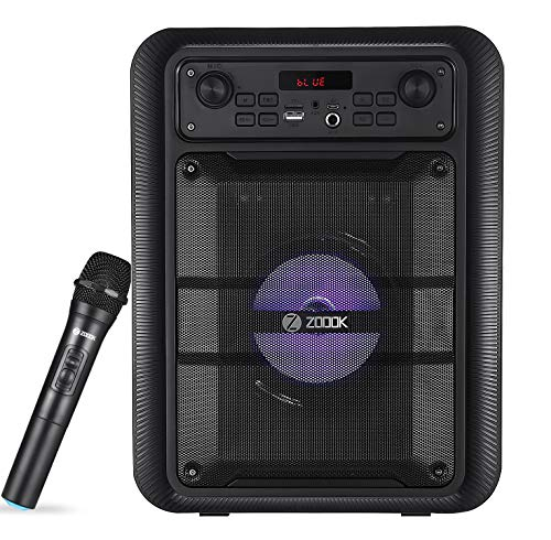 Zoook Rocker Thunder Pro 30 watts Karaoke Bluetooth Party Speaker with Wireless Mic (Black)
