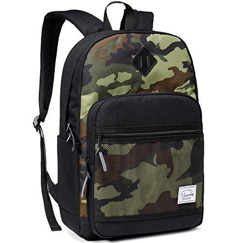 School Backpack,VASCHY Water Resistant Lightweight Casual Backpack for Men...