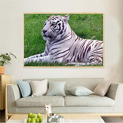 KWzEQ Leinwanddrucke Tiger Wandkunst Bild Wohnkultur für Wohnzimmer Poster30x45cmRahmenlose Malerei