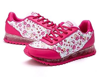Catkit Unisex Men Women LED Luminous Fashion Flower Print Sports Shoes Flashing Sneakers