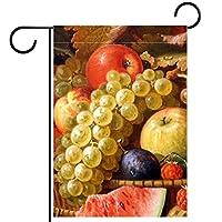庭の旗芝生の装飾庭の装飾屋外の農家の装飾ホオジロ旗果物絵画 両面バナー