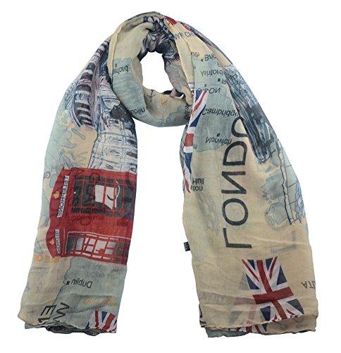 Lenikis England Flag London Soft Light Weight Scarves...