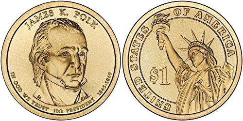 2009 D James K. Polk, 25-coin Bankroll of Presidential Dollars Uncirculated