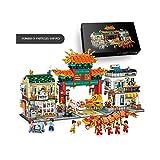 Micro Mini Building Blocks Chinatown Scene Building Blocks Model Set, (3581 Piezas) Divertido Juego Educativo De Juguete De Construcción
