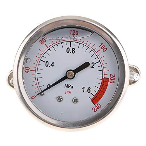 Edelstahl Manometer Für Messen von Überdruck oder Unterdruck - als Bild 1.6mpa