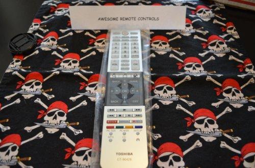 Toshiba Mando a Distancia para televisores CT-90428, PK11V01840I para Modelos 39L4300U, 50L4300U, 50L7300U, 58L7300U y 65L7300U