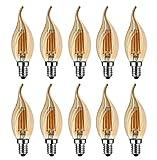 Lampadina E14 Vintage, MENTA Lampadina Filamento LED E14 4W equivalente a 40 W, Lampada LE...