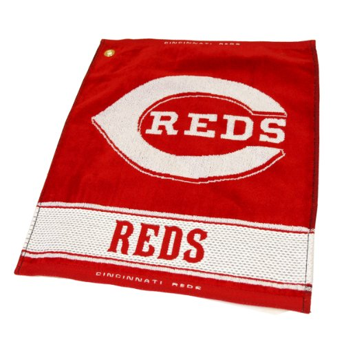 Team Golf MLB Cincinnati Reds Jacquard Woven Golf Towel, 16