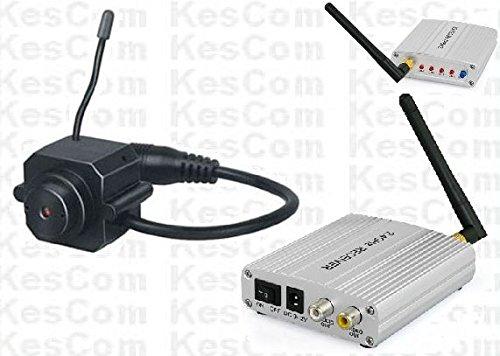 KesCom® 203D Mini Farb Funk Kamera Security Überwachung, Kanal 1 bis 4 erhältlich (Nicht einstellbar) inkl. 4 Kanal Empfänger 2,4 GHZ