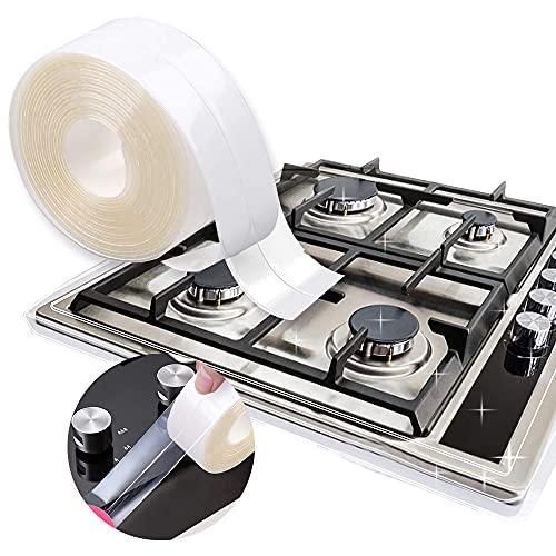 Self Adhesive Sealant Tape, Transparent PVC Bath Sealant Strip Caulk Tape, Waterproof Mildew Sealing Tape for Shower Tray, Wall Corner Edge Tile Gap Bath Trim, Bathroom Bathtub, Toilet Kitchen Sink