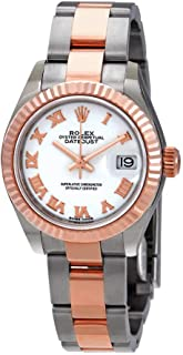 Lady-Datejust 28 White Dial Ladies Steel and 18kt Everose Gold Oyster Watch 279171WRO