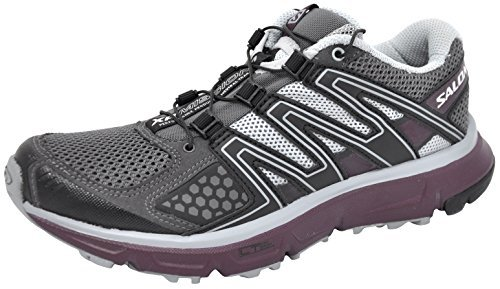 Salomon Women's XR Mission Trail Running Shoe (9 B(M) US, Magnent/Black/Purple)