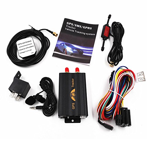 PolarLander Ranura para Tarjeta SD TK103A Dispositivo perseguidor del vehículo Sistema de Seguimiento del GPS del Coche GPS gsm GPRS del Coche con Control Remoto