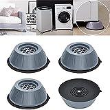 Supporto Anti Vibrazione per Lavatrice, Riduzione Del Rumore e Antiscivolo Piedini per Lavatrice In Gomma Anti Vibrazione, Cuscinetti Antivibranti per Lavatrice per Asciugatrice (4PCS, L)