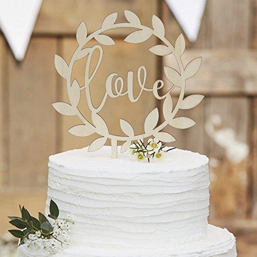 Kuchen-Aufsatz Love / Kuchen-Stecker / Torten-Aufsatz aus Holz / Hochzeits-Deko / Kuchen-Deko / Hochzeits-Torte / Cake Topper