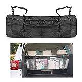 Togather® Coche extraíble tronco asiento trasero almacenamiento multi-Pocket bolso silla plegable organizador malla porta funda - Negro