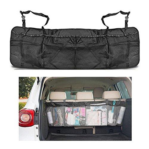 Togather Organizzatore di auto rimovibile tronco organizzatore Backseat Storage multi-tasca borsa Seggiolino pieghevole maglia titolare Pouch - Nero